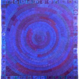 Bas van der Wal, 2020, TLTU5, Ballpoints, cardboard, MDF, 60 x 60 cm