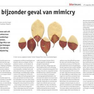 Artikel in Bionieuws n.a.v. de expositie van Anne Geene en Arjan de Nooy